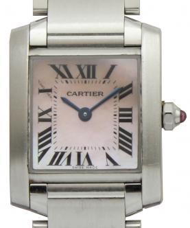 カルティエ タンクフランセーズ W51028Q3 ピンクシェル 買取 & 売るならアンティグランデ(1)